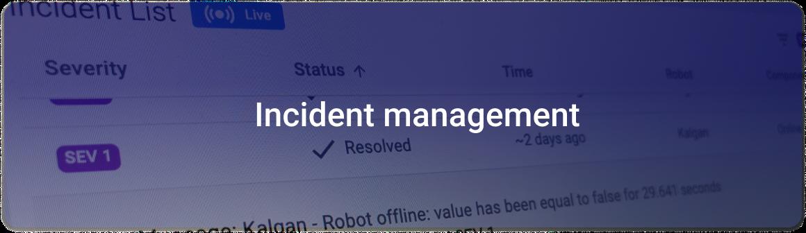 product key area_incident management