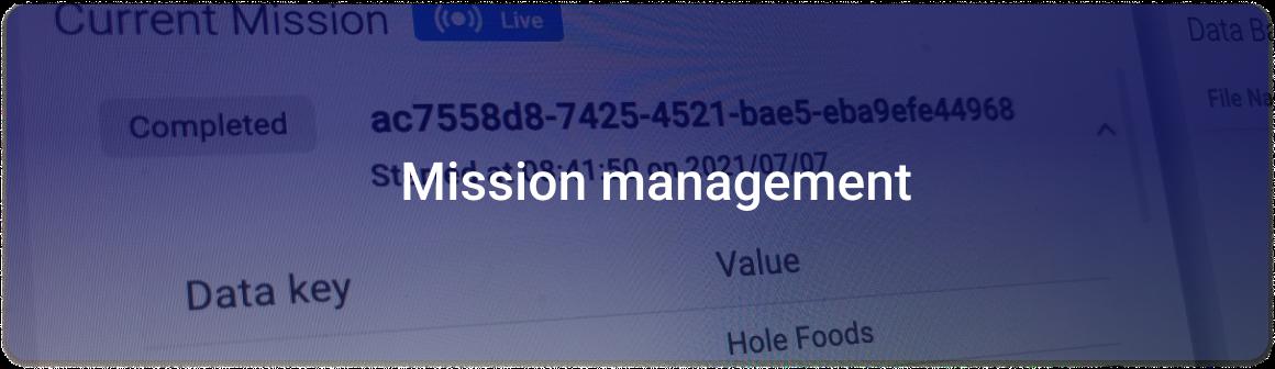 product key area_mission management